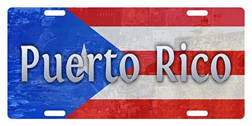 Puerto Metal Rico (Puerto Rico Flag Boricua Emblem # 4 Customized Novelty License Plates Aluminum, Decorative Front Car Tag Metal Sign for US Canada Vehicles 12 x 6 Inch)