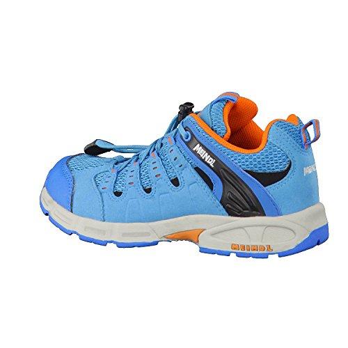 Meindl Respond Junior 680130, Unisex - Kinder Trekking- und Wanderschuhe Blau/Orange