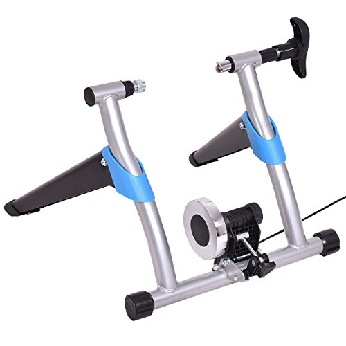 MD Group Bicycle Trainer Stand Indoor 8 Levels Stationary Exercise Portable Home Gym Training Fitness by MD Group