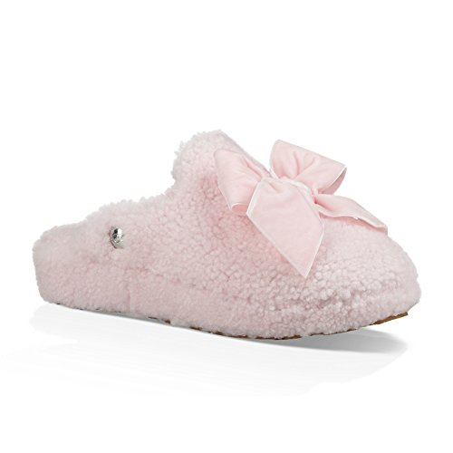 UGG Women's W Addison Velvet Bow Slipper, Seashell Pink, 8 M US