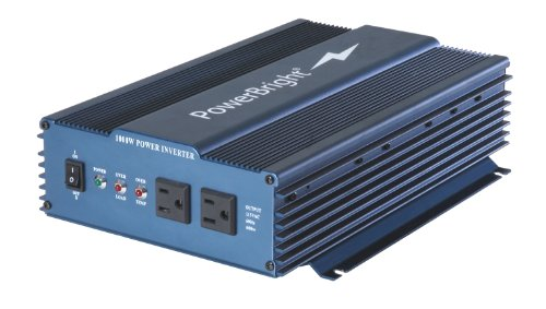 Power Bright APS1000-12 Pure Sine Power Inverter 1000 Watt continuous / 2000 watt Peak 12 Volt DC To 120 Volt AC