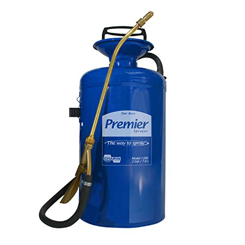 (Chapin 1280 Premier Pro 2-Gallon Tri-Poxy Steel Sprayer For Fertilizer, Herbicides and)
