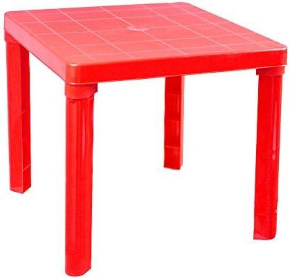 Vetrineinrete® Tavolino in plastica colorato per Bambini Tavolo da Gioco per Giardino casa cameretta 45×50 cm Giochi e Giocattoli (Rosso) P39