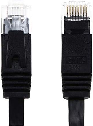 ShineBear 1M// 3M 10M RJ45 Ethernet Cables Flat CAT6 UTP Ethernet Internet Cable Network Cable RJ45 Patch LAN Cable Connector Black 5M Cable Length: 10 Meter