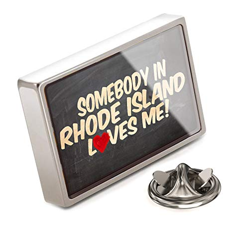 (NEONBLOND Lapel Pin Somebody in Rhode Island Loves me, United States)