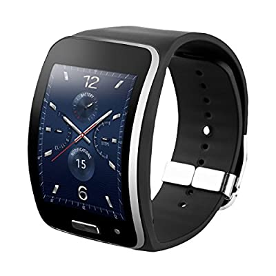 Samsung Galaxy Gear S SM-R750A Smart Watch With Curved Super AMOLED Display - Black (Certified Refurbished)