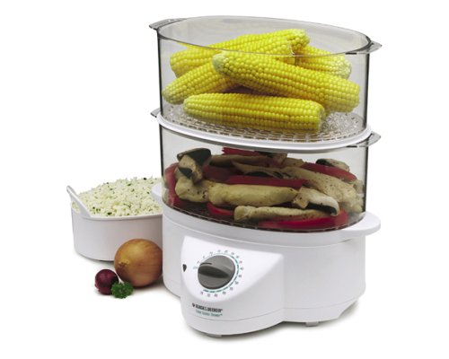 Black & Decker HS2776 Double-Decker Flavor-Scenter Steamer Deluxe Food Steamer Double Decker Food
