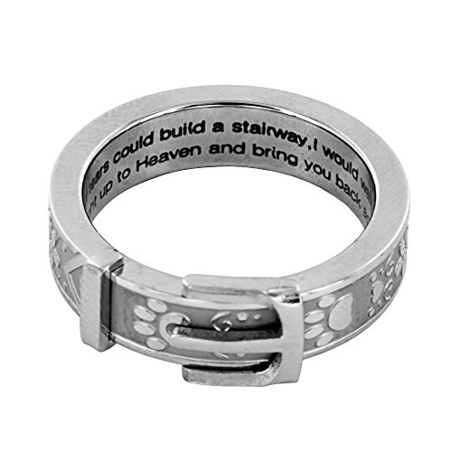 Paw Print Collar Remembrance Ring product image