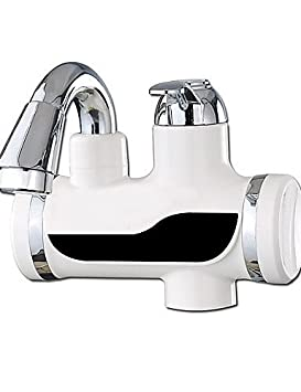 ZQ Digital eléctrico calentadores de agua cocina grifo frío caliente fugas de doble uso protección