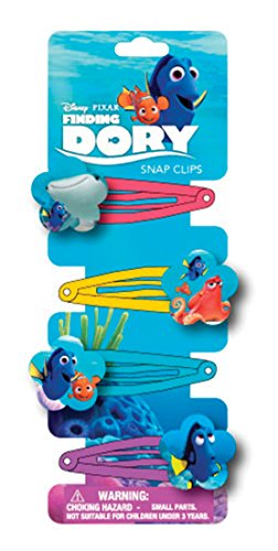 JOY TOY 41164 Finding Dory 4 Clothes Pins Hair Clip with Printed Motif Backer Card