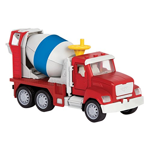 DRIVEN by Battat - Micro Cement Truck - Toy Cement Truck with Light and Sound Effects for Kids Age -