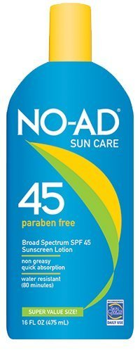 (NO-AD Sunscreen Lotion SPF 45 16 ounce, Pack of)
