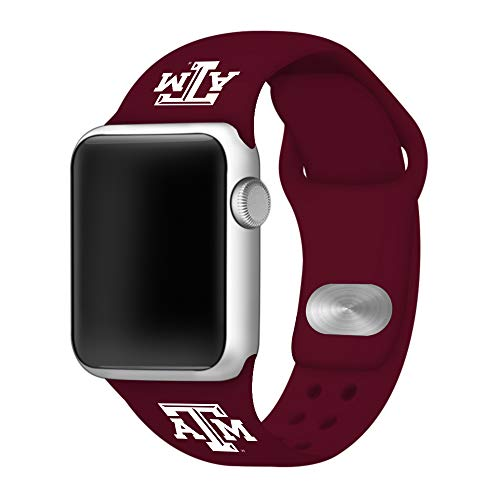 Affinity Bands Texas A&M Aggies Silicone Sport Band Compatible with Apple Watches - Band ONLY (Maroon, 38mm/40mm)