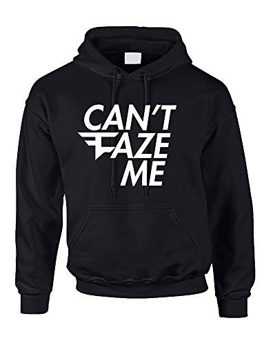 Allntrends Adult Hoodie Can't Faze Me Funny Top Cool Trendy Hooded (L, Black)