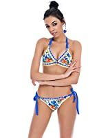 Sherry007 Sexy Handmade Crochet Bikini Swimsuit Triangle Swimwear Bathing Suit
