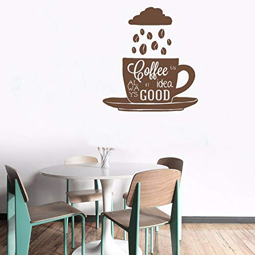 Dalxsh Wall Decal Coffee Beans Cup Vinyl Wall