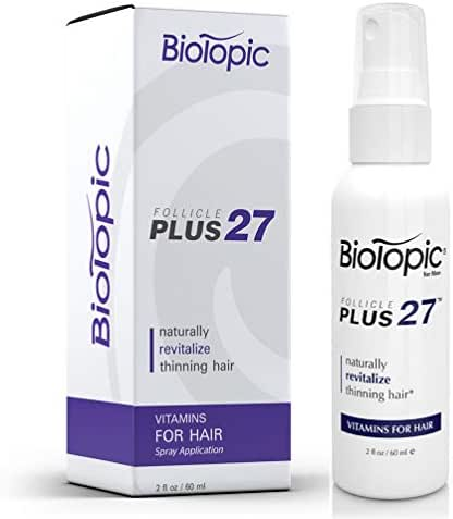 Hair Regrowth for Men with DHT Blockers. Contains 27 Clinically Proven Ingredients for Hair Loss, 2 Ounce Spray