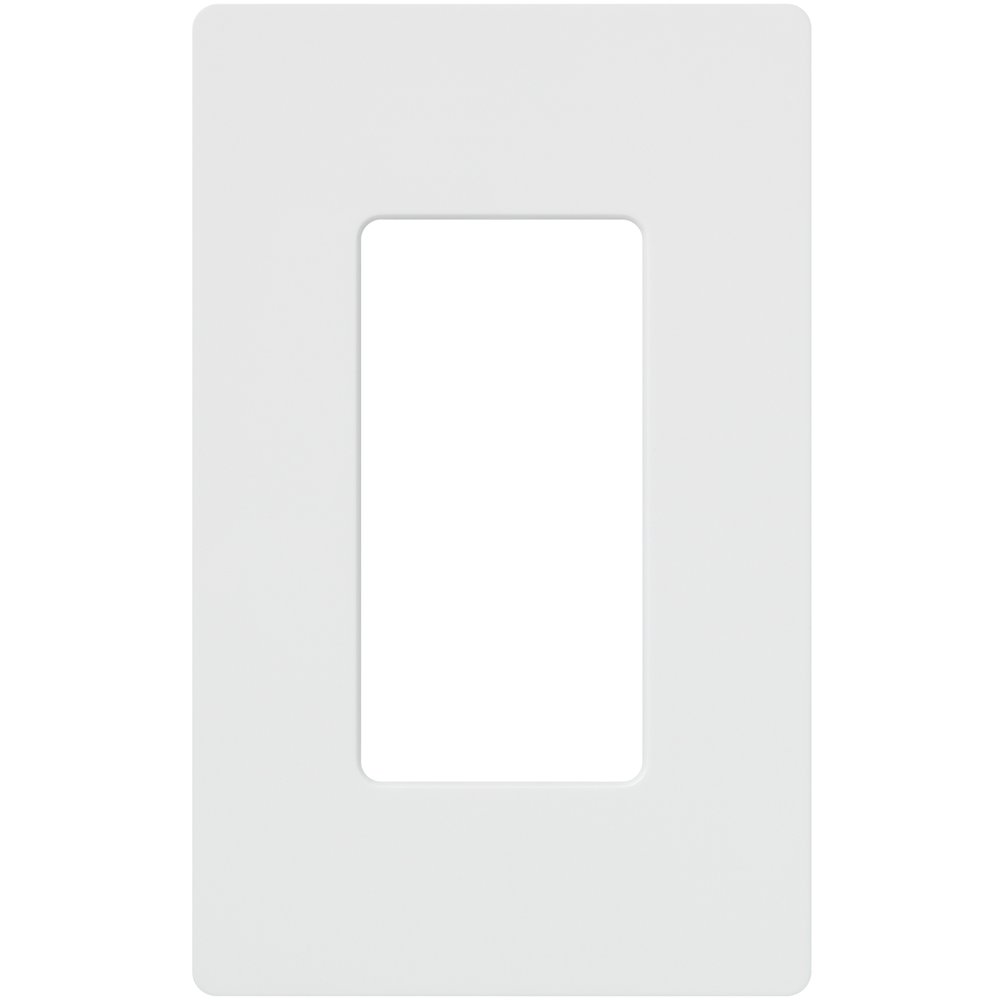 Lutron Claro 1 Gang Decorator Wallplate, CW-1-WH, White