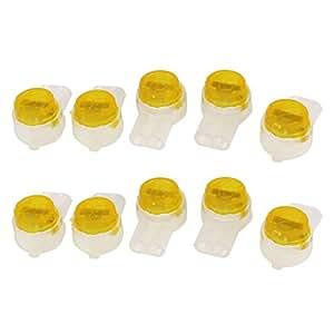 10 Piezas hermético Naranja Claro botón cable UY Conector de empalme a tope