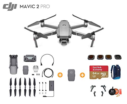 Aircraft Radio Noise (DJI Mavic 2 Pro Drone Quadcopter with Extra Battery, Ultimate Bundle, with 64GB SD Card, Filter Set (CPL ND8 ND16 ND32), Landing Gear, Landing Pad and Backpack)