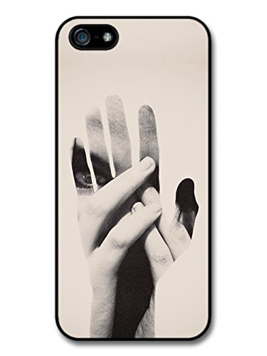 Hands Double Exposure Photography Technique in Hipster Black and White Style case for iPhone 5 5S