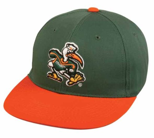 Miami Hurricanes Ncaa Baseball - Miami Hurricanes ADULT Cap Officially Licensed NCAA Authentic Replica Baseball/Football Hat