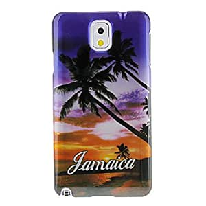 Seabeach Sunset Pattern Protective Hard Back Case Cover for Samsung Galaxy Note3 N9000