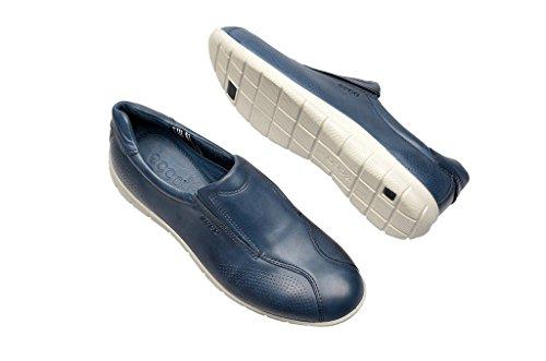 Ecco Babett Black Feather Babett Tie - Mocasines de cuero para mujer, color azul, talla 36 Bleu - Denim Blue