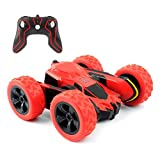 Remote RC Car,Control Tracks 2.4GHZ Controlled Toy Car Kids Adults,Double Sided 360 Degree Flips. (Green)(Batteries not Included)