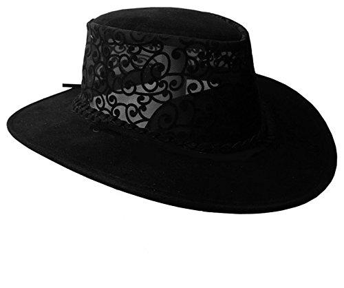 - Kakadu Ladies Leather Hat Florentine KTA Black