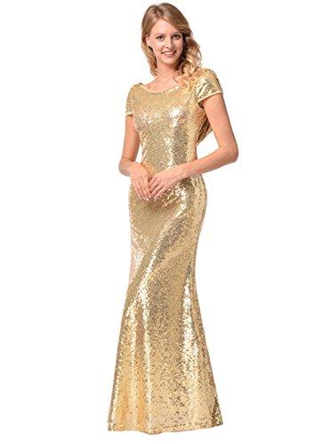 Cabestro De Tela XXL De Vestido De Lentejuelas Alta Moda De Sexy Verano Mujeres Gold Vestido Primavera Noche Calidad 4nw0EOgPq