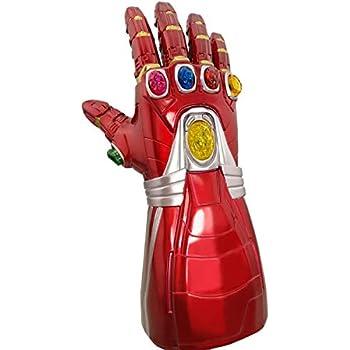 Avengers Endgame Iron Man Infinity Gauntlet Gemstone Movable LED Light Gloves