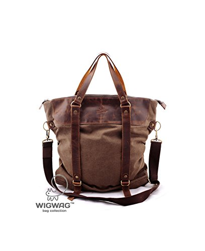 Women's convertible bag, canvas leather backpack, crossbody bag, multifunctional bag by TM Wigwag