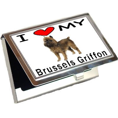 Brussels Griffon Business Card Holder - I Love My Brussels Griffon Business Card Holder