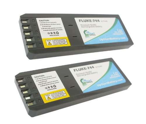 2x Pack - Replacement Battery for Fluke 700, 740, 744 BP7235, DSP-4000PL, DSP-4000 Documenting Process Calibrators - UpStart Battery Brand. by UpStart Battery