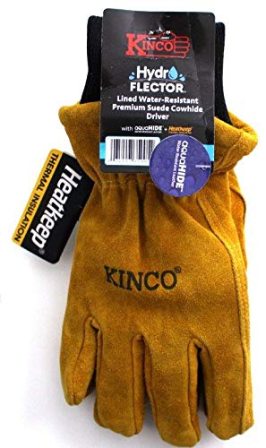 - Kinco - 350HKP HYDROFLECTOR Lined Water-Resistant Cowhide Gloves for Men (Large)