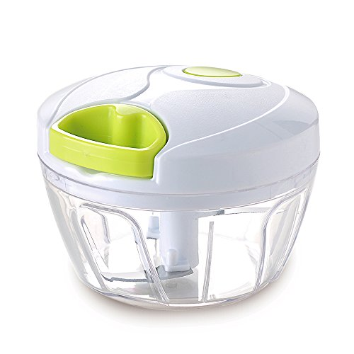 Vinipiak Manual Food Chopper for Vegetable Fruits Nuts Onions Chopper Hand Pull Mincer Blender Mixer Food Processor (2 cup) (Best Manual Vegetable Chopper)