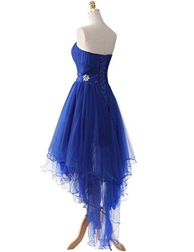 Robes Robe Sans Mariage Jaeden Bal Haut Foncé Violet De Soirée Bretelles Fête Tulle bas f6yIb7Ygv