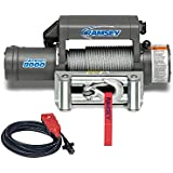 """Ramsey 109156 Winch (Patriot, 8,000 pounds, Roller Fairlead, Power In/Out, 5/16"""" x 95' Cable, Wireless Remote)"""