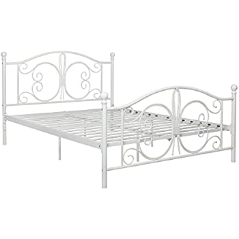 dhp 3246198 bombay metal bed full white