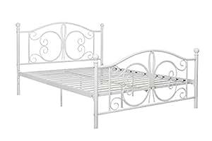 dhp bombay metal bed frame vintage design and includes metal slats full size. Black Bedroom Furniture Sets. Home Design Ideas