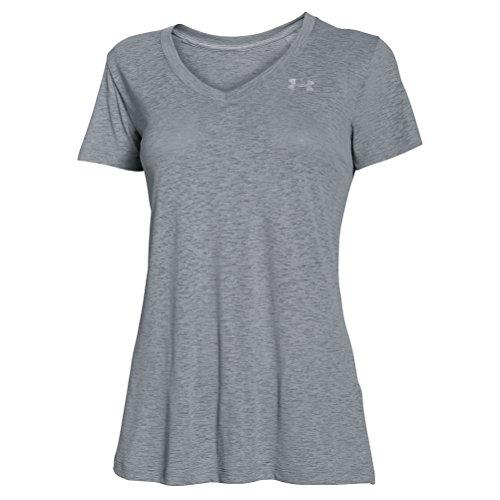 Under Armour Tech–Camiseta de manga corta para mujer Steel/Metallic Silver
