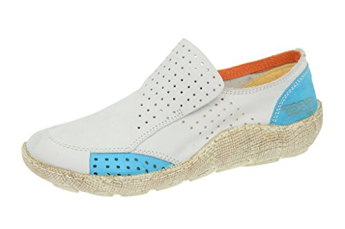 Eject Good slippers E-16233 White Leather Womens Shoes White - WHITE