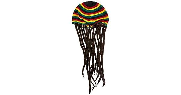 Amazon.com: guatemalart Rasta Tam con Dreadlocks: Clothing