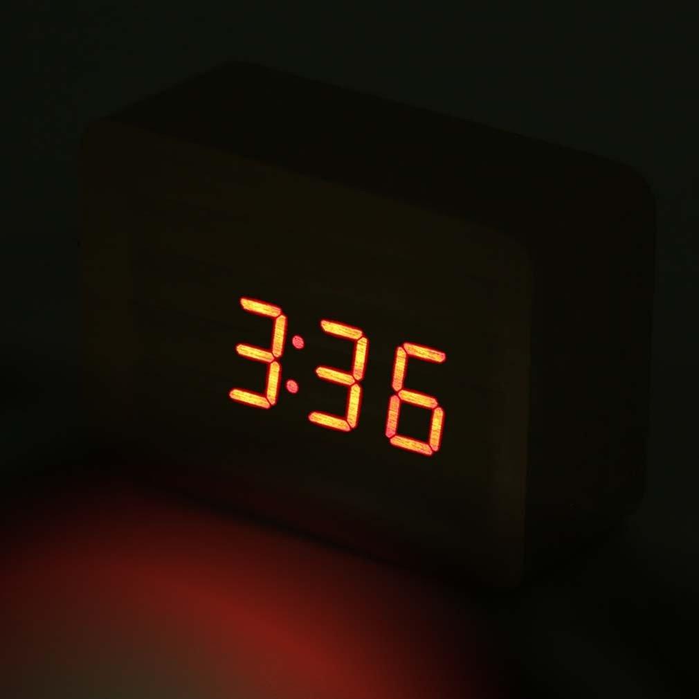 b25ec111576 Relogio Digital Led Madeira Alarme Mesa Termometro Funçao Voice Control  Bege (JA80600)  Amazon.com.br  Cozinha