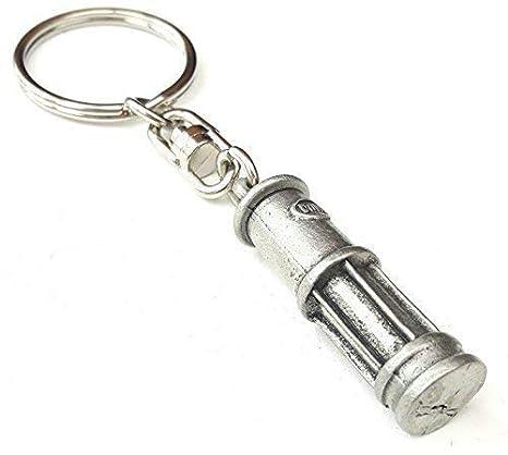 Mineurs Lampe Fait À La Main Avec étain anglais Porte-clés + 59mm insigne de a8800dc8ca4