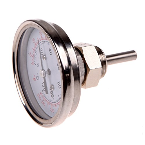 "VANPOWER 1/2""Stainless Steel Thermometer for a Moonshine Sti"