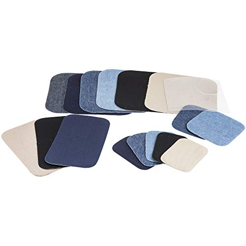 Denim Twill Assorted Singer 00135 Peel and Stick Patch Combo Kit