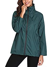 Lightweight Waterproof Raincoat For Women Windbreaker Packable Outdoor Hooded Rain Jacket