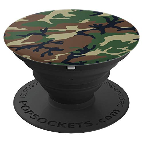 Green Olive Camouflage Mountain Collapsible Pop Out Mount - PopSockets Grip and Stand for Phones and Tablets
